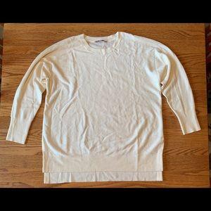 Athleta merino wool cream sweater
